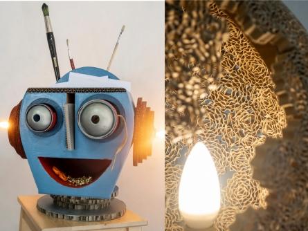 lampe et robot
